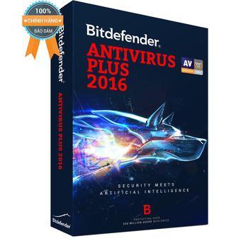 Phần mềm diệt virus Bitdefender Antivirus Plus 2016 - 1PC/Year