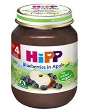 Dinh dưỡng đóng lọ dâu tím, táo tây HiPP 125g