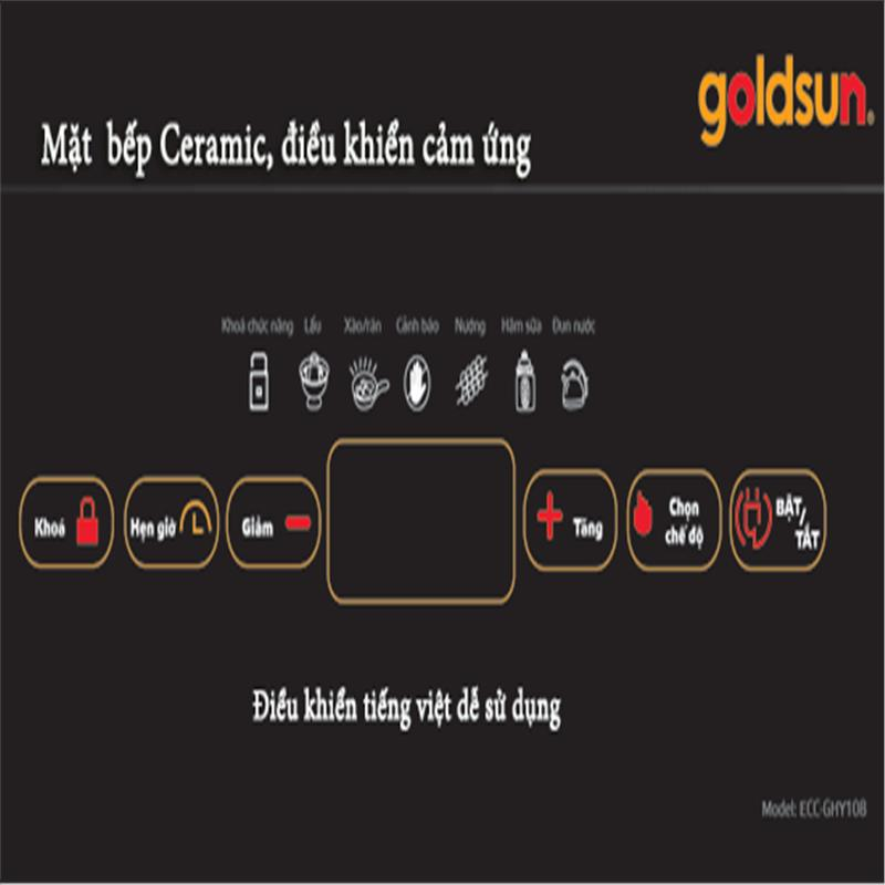 Bếp hồng ngoại Goldsun-ECC-GHY108