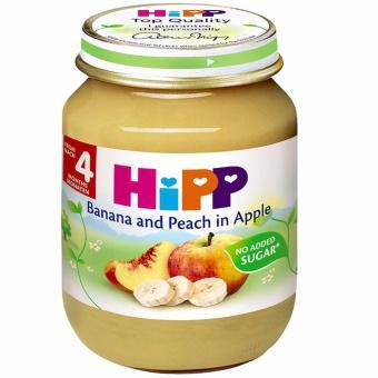 Dinh dưỡng đóng lọ Hipp chuối, đào, táo (125g) - 4283