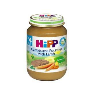 Dinh dưỡng đóng lọ thịt cừu, cà rốt, khoai tây HiPP 190g