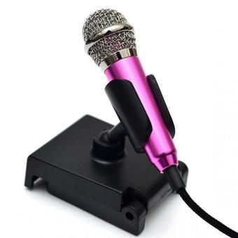 Micro mini hát Karaoke trên điện thoại (Hồng )