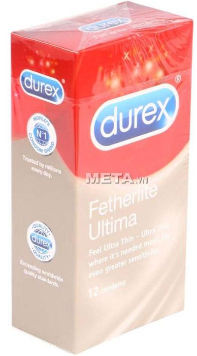 Bao cao su Durex Fetherlite Ultima (hộp 12 chiếc)