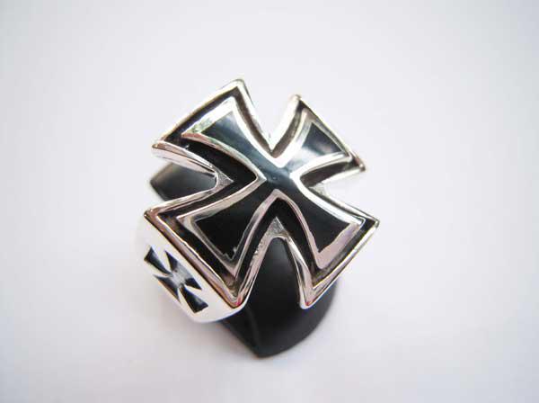 Nhẫn bạc nam chữ thập