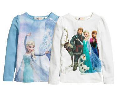 Set 2 Áo H&M Dài Tay Disney Frozen size 8/10