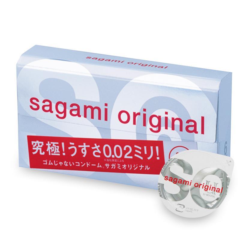 Bao cao su Sagami Original 0.02 (hộp 6 chiếc)