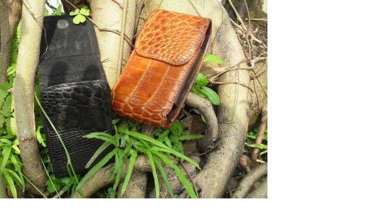 Bao điện thoại da bụng cá sấu cao cấp