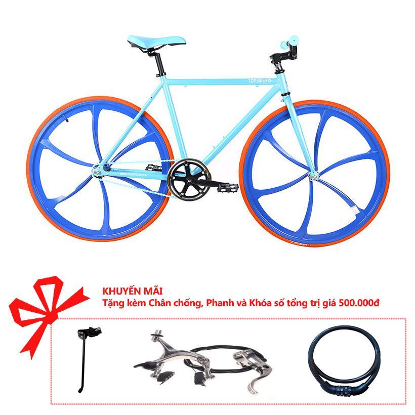 Xe đạp Topbike Fix Lazang khung màu xanh da trời
