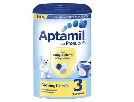 Sữa bột Aptamil Anh số 3 cho trẻ 1-2 tuổi (900g)