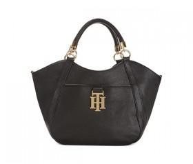 Tommy Hilfiger TH Monogrammed Leather Shopper