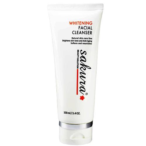 Sữa rửa mặt trắng da Sakura Whitening Facial Cleanser
