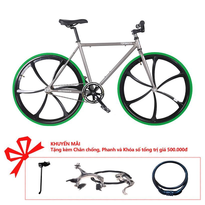 Xe đạp Topbike Fix Lazang khung màu ghi