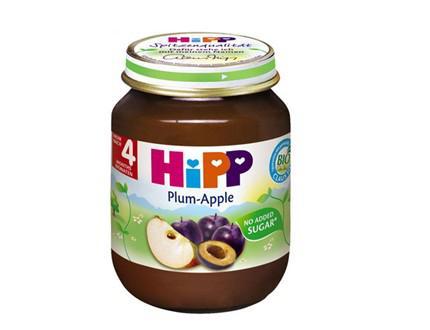 Dinh Dưỡng đóng lọ mận tây, táo tây HiPP 125g