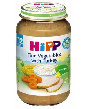 Dinh dưỡng đóng lọ gà tây, rau tổng hợp HiPP 220g
