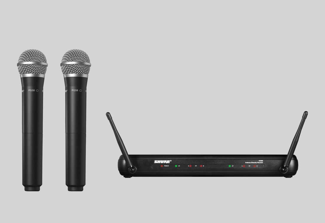 Micro Shure SVX288AZ/PG58 - Micro Shure không dây với 2 mic cầm tay chất lượng cao
