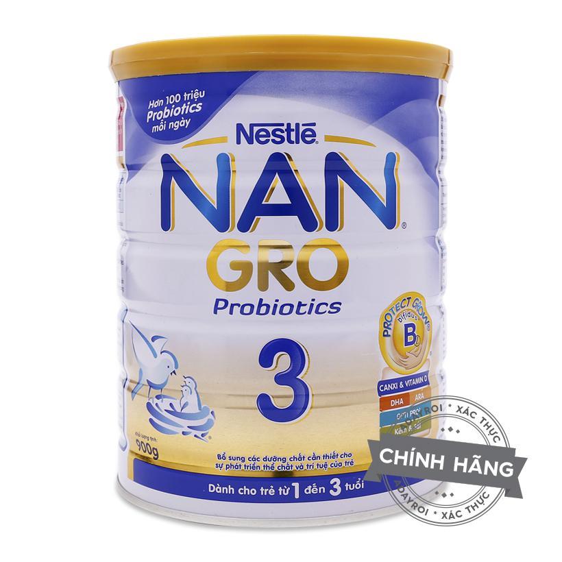 Sữa bột Nestle Nan 3 Gro 900g