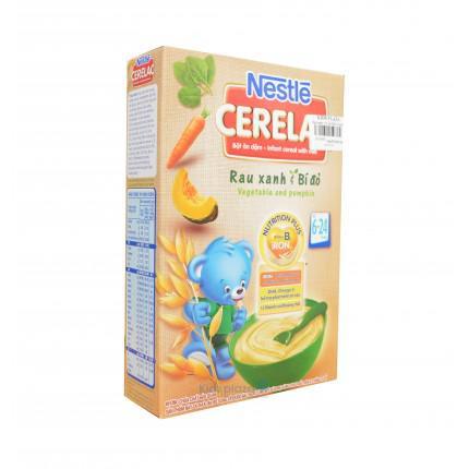 Bột ăn dặm rau xanh và bí đỏ Nestle 200g