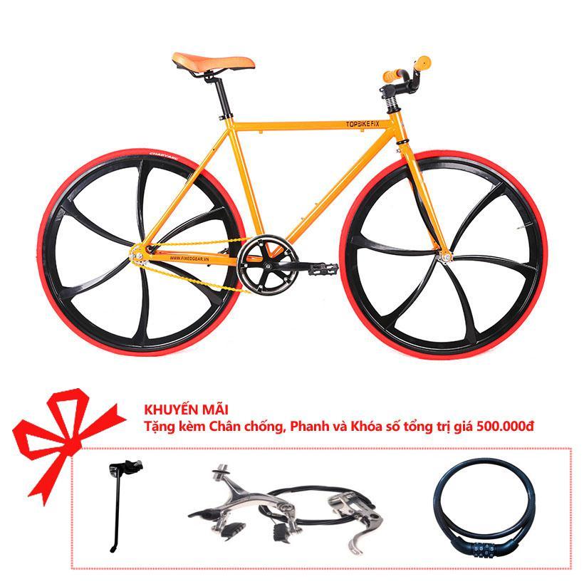 Xe đạp Topbike Fix Lazang khung màu cam