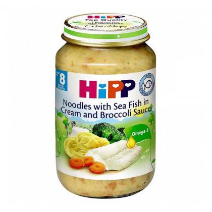 Dinh dưỡng đóng lọ mì tagliatelle kem, lơ xanh HiPP 220g