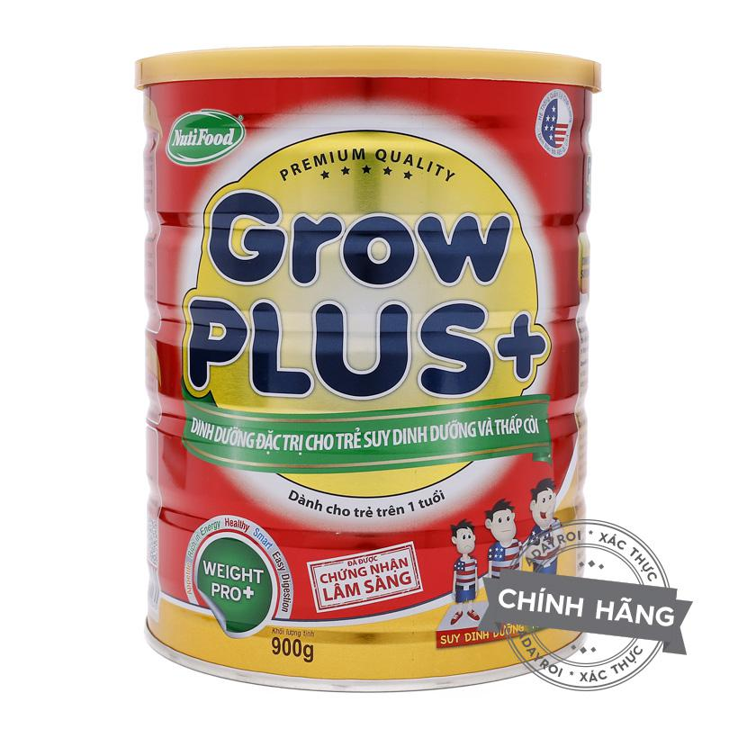 Sữa bột NutiFood Grow Plus+ cho trẻ thấp còi 900g