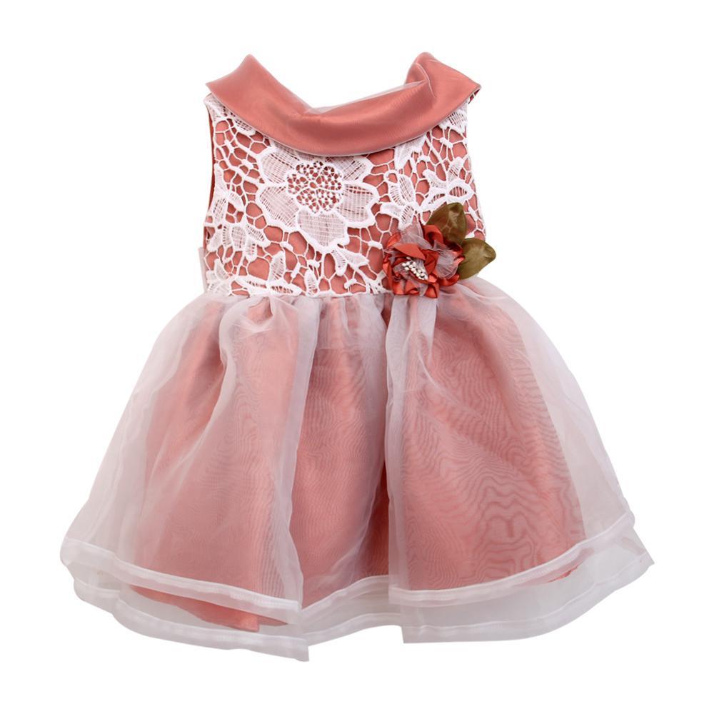 Váy công chúa cổ tròn hoa eo Thái Lan 3325-1