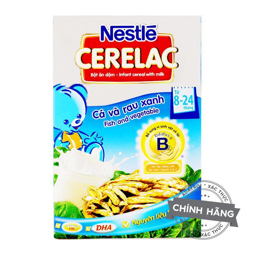 Bột ăn dặm cá và rau xanh Nestle 200g