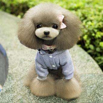 Fleece Hoodie Sweatershirt British Jacket Coat Small Dog Clothes Costume (Intl)