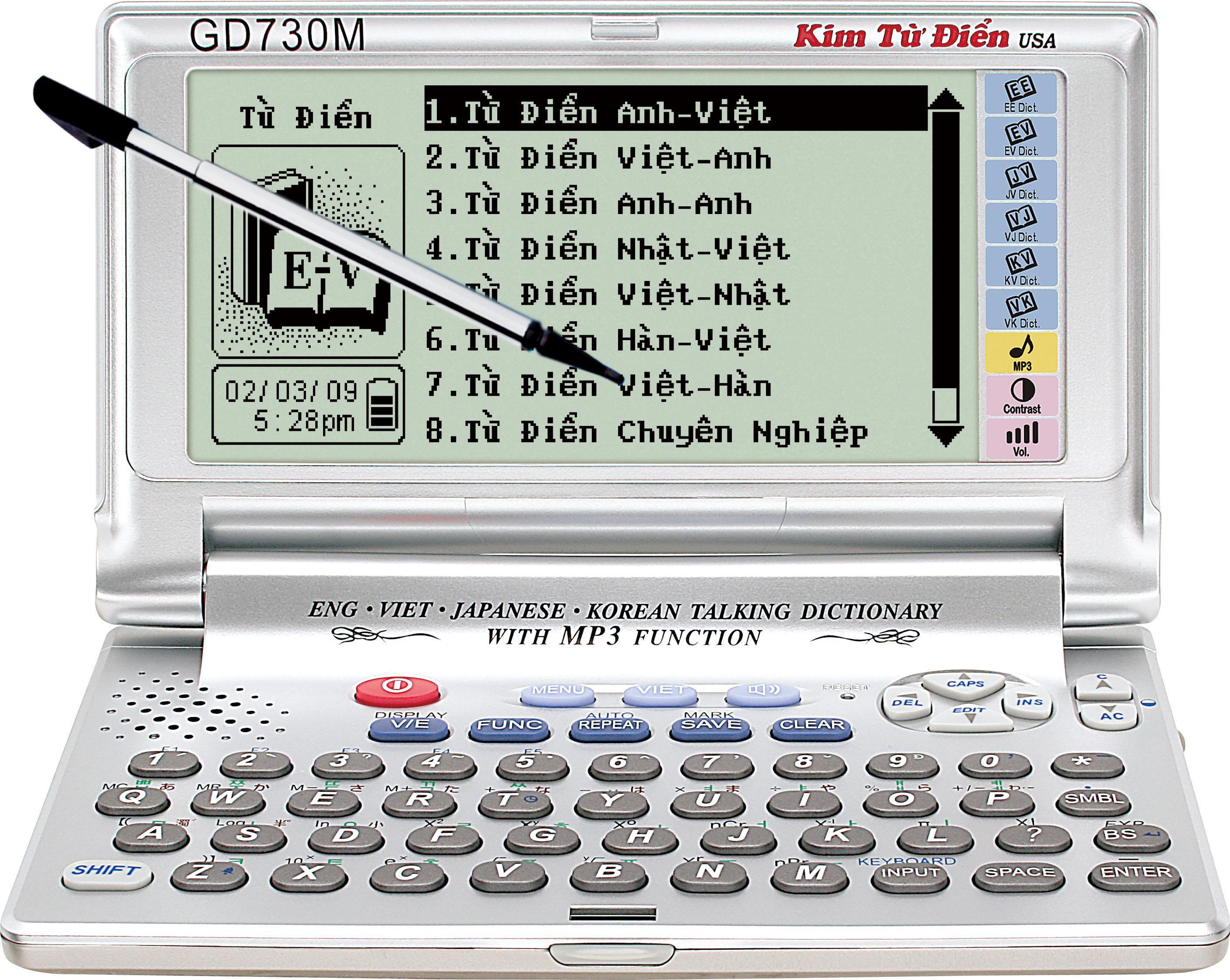 Kim từ điển GD730M - Anh-viet-han-nhat