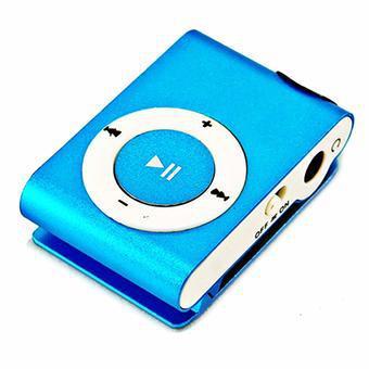 Máy nghe nhạc MP3 mini vỏ nhôm (Xanh)