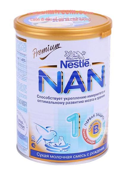 Sữa NAN NGA 1 từ 0 - 6  tháng  hộp thiếc 400g
