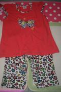 Bộ đồ mặc nhà cho bé gái bướm quần chấm beo DBBG8