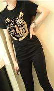 Áo thun hình hổ màu đen