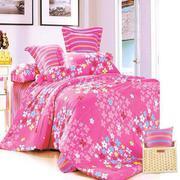 Bộ ga giường cotton 1m6 x 2m (Hồng nhí)