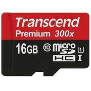 Thẻ Nhớ MicroSDHC Transcend Premium Class 10 UHS-I 16GB (Đen)