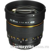 Bower 85mm f/1.4 Aspherical Lens with Focus Confirm Chip for Nikon     Mfr# SLY85AE