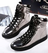 giày sneaker cổ cao da bóng
