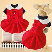 Pet Dog Clothes Woolen Winter Princess Dress Coat Lace Trim Small Girl Dog (Intl)