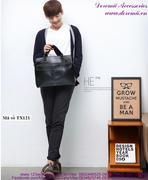 Túi xách da laptop phong cách Hàn Quốc lịch lãm sang trọng TX121