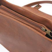 Túi xách hộp vuông Huy Hoàng màu bò đậm - HH6134