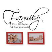 Bộ khung ảnh và decal Happy Home SET 2D (Đỏ)