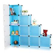 Tủ nhựa đa năng 10 ngăn Tupper Cabinet TC-10BL-W (xanh dương cửa trắng)