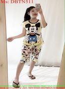 Đồ bộ nữ mặc nhà lửng hình mickey dễ thương DBTN511