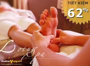 Chăm sóc và thư giãn cho đôi chân ( Nam - Nữ ) tại Lotus Foot Spa