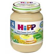 Dinh  dưỡng đóng lọ ngô bao tử khoai tây gà tây Hipp 4+
