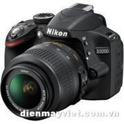 Nikon D3200 Digital SLR Camera With AF-S DX NIKKOR 18-55mm 1:3.5-5.6G VR Lens (Black)     Mfr# 25492
