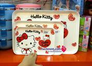 Đĩa nhựa hình Hello Kitty xuất Nhật có 3 size 45k - 65k -120k