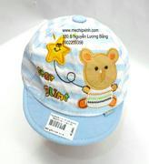 Mũ xanh hình gấu cầm ngôi sao