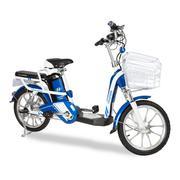 Xe đạp điện i-CITY plus Xanh-trắng