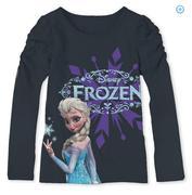 Disney Frozen Elsa Girls Puff Long Sleeve Graphic Tee size 6t
