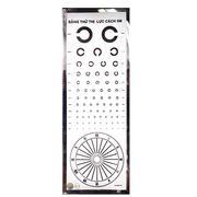 Bảng đèn thử thị lực, kiểm tra tật khúc xạ chữ C - TNE, Việt Nam (công nghệ biến tần)
